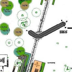 Johanna Wirth - Landschaftsarchitektin - Außenanlage Strausberger Flugplatz, Plan
