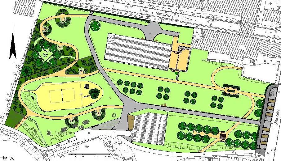 Johanna Wirth - Landschaftsarchitektin - Freiraumplanung Messingwerk, Plan Gesamt