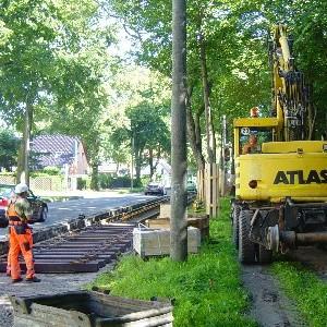 Johanna Wirth - Landschaftsarchitektin - Ökologische Baubegleitung, Erneuerung eines Straßenbahngleises