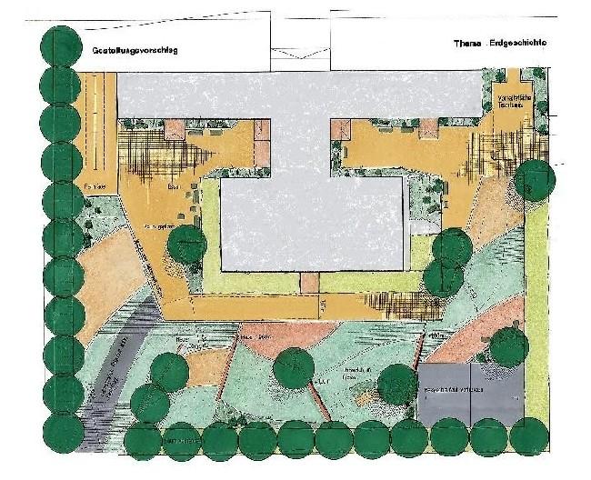 Johanna Wirth - Landschaftsarchitektin - Schulhofneugestaltung, Entwurf